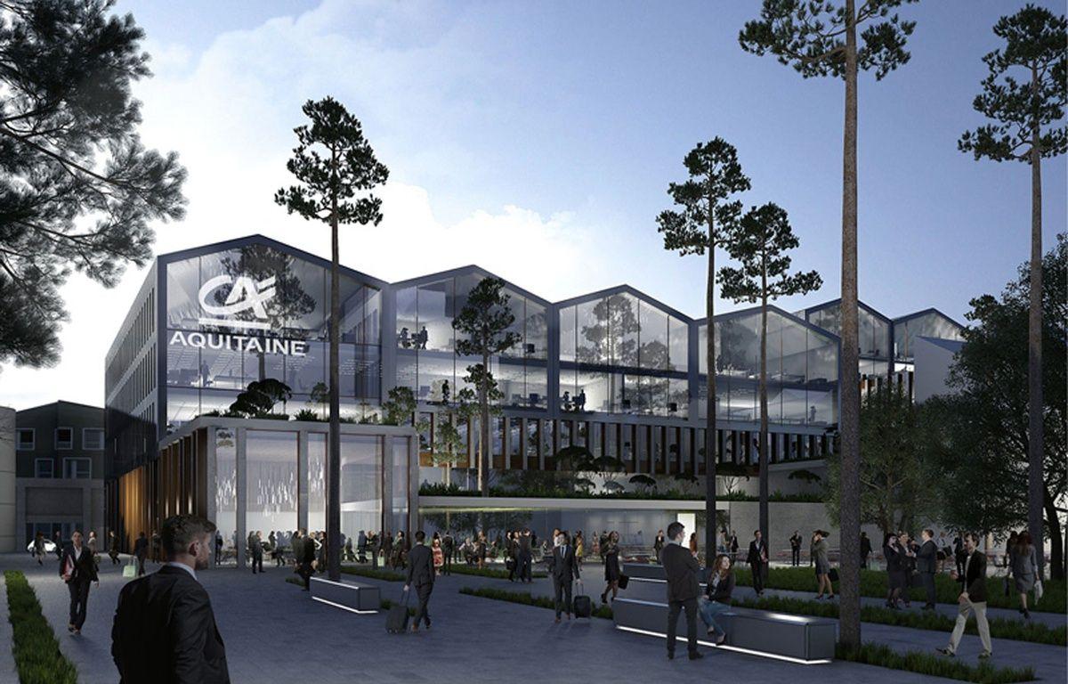 Image de synthèse du futur siège du Crédit Agricole aux Bassins à Flot à Bordeaux – JM WILMOTTE
