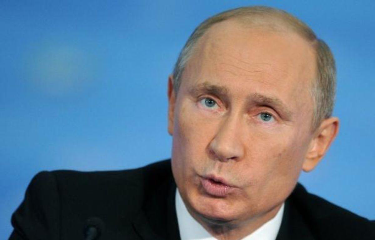 """Le président Vladimir Poutine a placé sous le contrôle et la protection de l'Etat les entreprises russes """"stratégiques"""" opérant à l'étranger dans un décret mardi, une semaine exactement après que la Commission européenne a annoncé l'ouverture d'une enquête contre Gazprom. – Alexander Nemenov afp.com"""