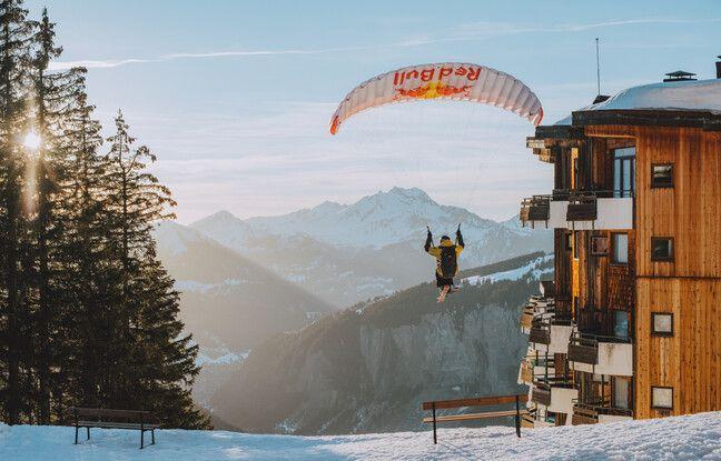 Le speed riding permet à Valentin Delluc d'allier sa passion du ski freeride et celle du parapente.