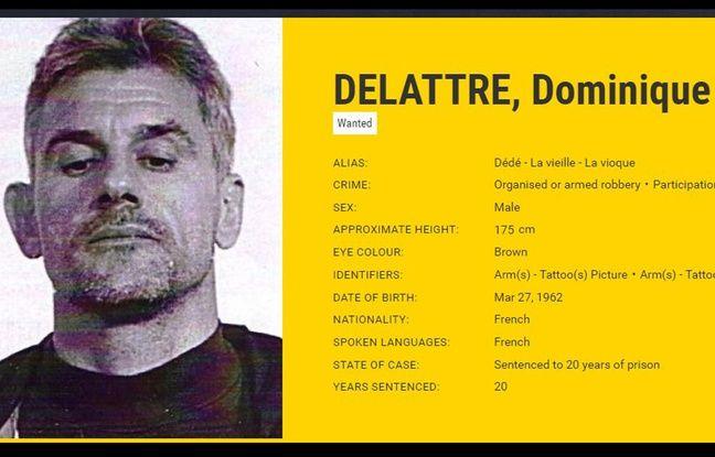 La fiche Europol de Dominique Delattre dit «Le Vioque».