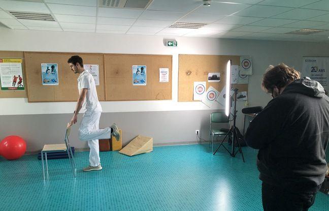 Enseignant en activités physiques adaptées (APA) à Val Rosay, Anthony Clément a pris part au projet E-Adapt.