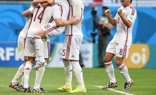 L'équipe d'Espagne face aux Pays-Bas (1-5), le 13 juin 2014.