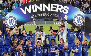 Chelsea a remporté la Supercoupe d'Europe en battant Villarreal (1-1 a.p., 6-5 t.a.b.), à Belfast le 11 août 2021.