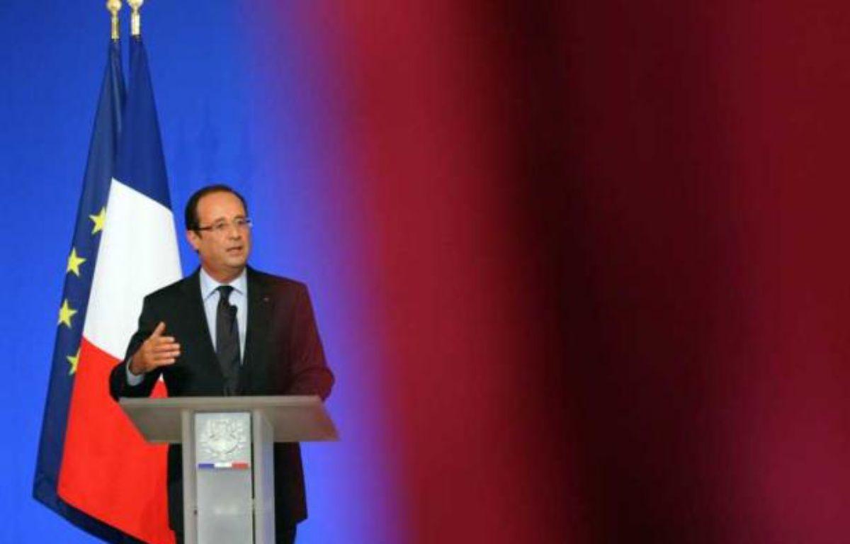 FrançoisHollande le 27 août 2012 à la conférence des ambassadeurs, à l'Elysée. – LUDOVIC-POOL/SIPA