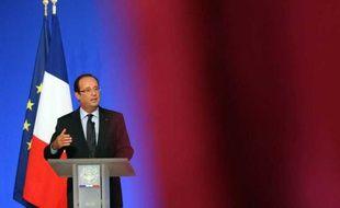 FrançoisHollande le 27 août 2012 à la conférence des ambassadeurs, à l'Elysée.