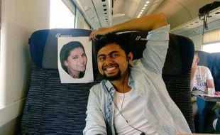 Faizan Patel sans sa femme en Italie.