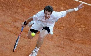 Le tennisman britannique Andy Murray, lors du tournoi de Monte-Carlo, face à Nikolai Davydenko, le 17 avril 2009.
