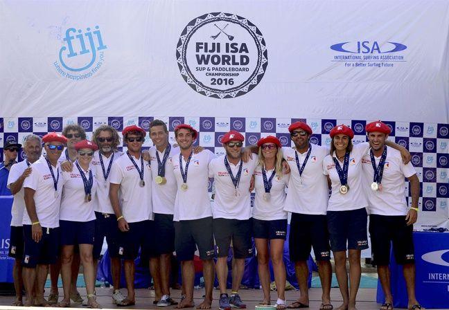 L'équipe de France aux mondiaux 2016 de SUP aux Fidji