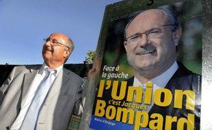 Le député-maire d'Orange Jacques Bompard, ancien membre du Front national et président de la Ligue du sud, membre de la liste du parti d'extrême-droite qui sera au second tour dimanche prochain.