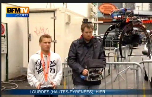 Capture d'écran d'un reportage de BFMTV réalisé grâce à un drone