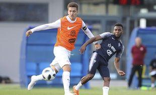 Thomas Lemar lors d'une opposition entre les remplaçants de l'équipe de France et les moins de 19 du Spartak Moscou, le 17 juin 2018 à Istra.