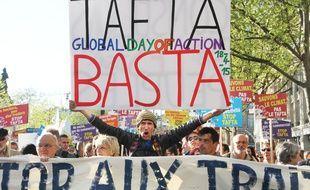 Une manifestation anti-Tafta le 18 avril 2015 à Paris.