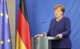 La chancelière allemande Angela Merkel, à Berlin le 20 mai 2020.