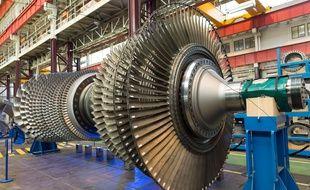 Une turbine à l'usine Belfort de GE.