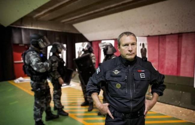 Jean-Michel Fauvergue, le patron du Raid, l'unité d'élite de la police nationale, à Bièvres en France, le 5 septembre 2013