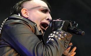 Le chanteur Marilyn Manson en concert en juin 2013.