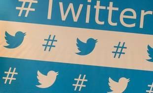 Le logo du réseau social Twitter.
