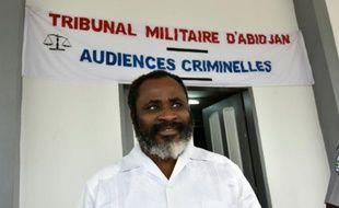 """Le commandantAnselme Séka Yapo, ancien chef de la sécurité rapprochée de l'ex-Première dame ivoirienne Simone Gbagbo, poursuivi pour """"meurtre"""", le 4 juin 2015 à Abidjan"""