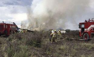 Un avion de la compagnie Aeromexico s'est écrasé au décollage au Mexique près de Durango, le 31 juillet 2018.