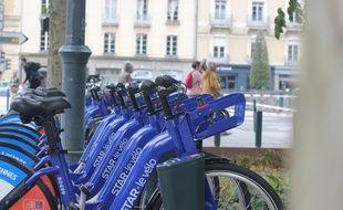 Le nouveau Vélostar, vélo en libre service de Rennes Métropole loué par l'opérateur Keolis.