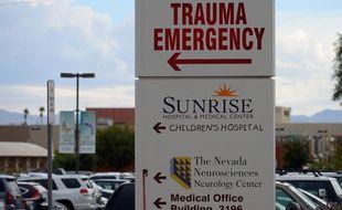 L'hôpital de Las Vegas où est soigné Lamar Odom, le 16 octobre 2015.