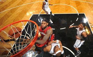 LeBron James lors du match entre Miami et Brooklyn le 12 mai 2014.