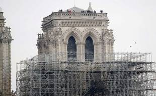 Notre-Dame de Paris au lendemain de l'incendie du 15 avril 2019