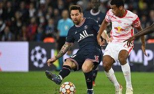 Lionel Messi, le 19 octobre 2021 au Parc des Princes.