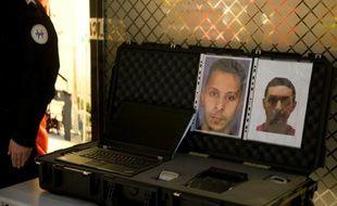 Les portraits de Salah Abdeslam et Mohamed Abrini à l'aéroport Charles-de-Gaulle le 3 décembre 2015 à Roissy