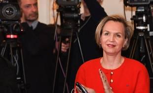 Virginie Calmels, lors de la conférence de départ d'Alain Juppé de la mairie de Bordeaux.