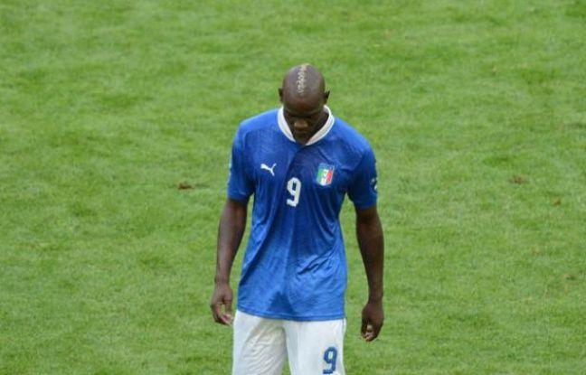 Mario Balotelli, joueur de l'équipe d'Italie, pendant le match de l'Euro contre l'Espagne, le 10 juin 2012.