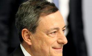 Le président de la BCE Mario Draghi lors d'une conférence de presse à Francfort le 21 janvier 2016