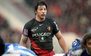 Le joueur de rugby de Toulouse, Byron Kelleher, lors d'un match contre Montpellier, le 3 janvier 2009.