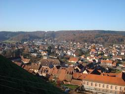 La ville de Bitche, en Moselle, vue depuis sa citadelle.