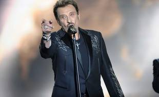 Johnny Hallyday sur scène lors des Victoires de la Musique de 2009