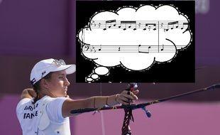 Lisa Barbelin, l'archère passionnée de musique.