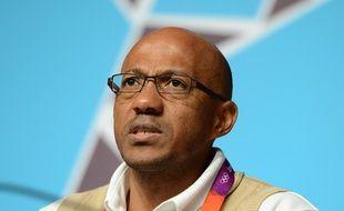 Frankie Fredericks, lors des Jeux Olympiques, le 29 juillet 2012