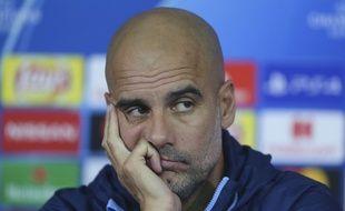 Pep Guardiola, le coach de Manchester City, en conférence de presse le 22 octobre 2018.