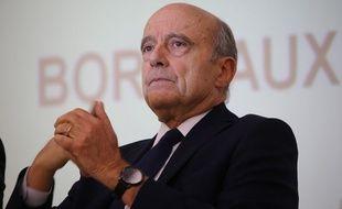 Alain Juppé, lors du meeting de soutien à François Fillon à Bordeaux, le 16 février 2017