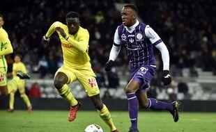 L'ailier du TFC Dodi Lukebakio lors du match de Ligue 1 contre Nantes, le 14 janvier 2017 au Stadium de Toulouse.