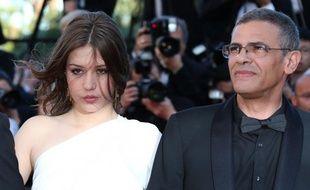Adèle Exarchopoulos et Abdellatif Kechiche, à Cannes, en mai 2013.