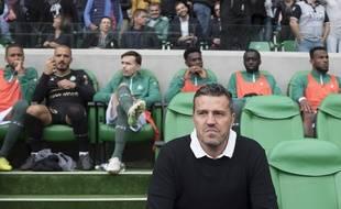 Oscar Garcia, ici sur le banc des Verts lors de la réception d'Angers en septembre.