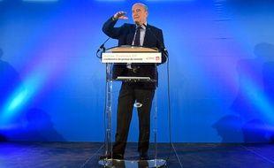 Alain Juppé, le 19 septembre 2017 lors de sa conférence de presse de rentrée à Bordeaux