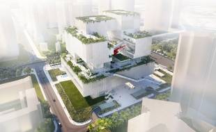 L'immeuble «Living Canvas» signé de l'agence lilloise CAAU pour Shenzhen