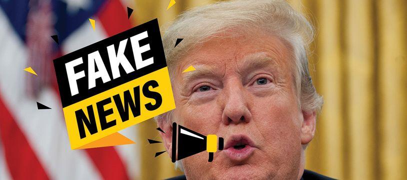 Le président Donald Trump a participé à installer le terme de Fake News, mais aussi son concept, étant lui-même habitué à l'exercice de la désinformation.