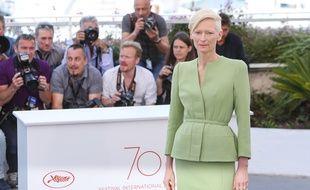 L'actrice Tilda Swinton au 70e Festival de Cannes