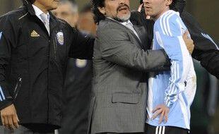 Leo et Diego lors du Mondial 2010 en Afrique du Sud.