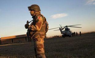 Un soldat français de la Légion étrangère, dans le nord du Mali, le 21 janvier 2013
