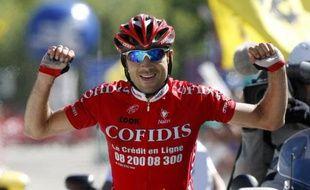 David Moncoutié lors de sa victoire sur le Dauphiné Libéré, le 13 juin 2009.