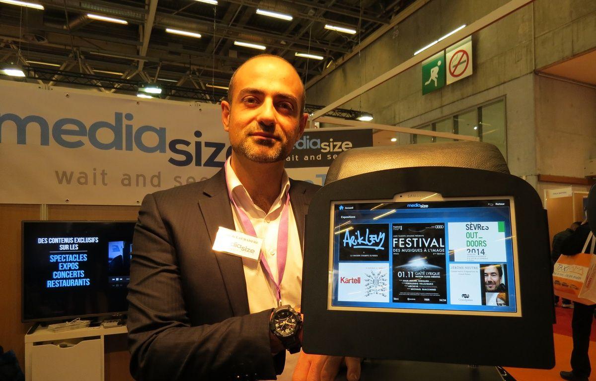 Hugues de Laubadère, fondateur de Médiasize, veut équiper les taxis parisiens d'écrans tactiles numériques. – F.Pouliquen/20Minutes